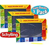 Schylling Magic Slate Drawing Pads Party Pack Bundle - 3 Pack