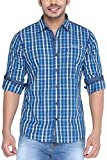 Earth Born Men's Casual Shirt (INDG_Blue_40)