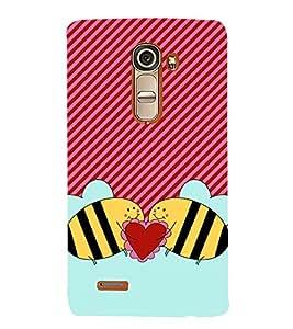 Love Bees 3D Hard Polycarbonate Designer Back Case Cover for LG G4 Mini :: LG G4C