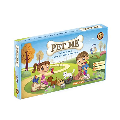 PET ME multiplication and division board game STEM Toy Math manipulative and gift for 8 years and up