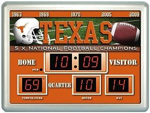 Texas Longhorns UT NCAA 14 X 19 Scoreboard Clock by Caseys