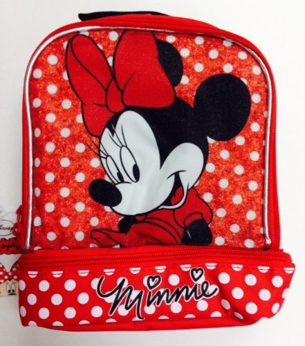 Disney Minnie Mouse Insulated Lunch Bag / Cooler Bag Dual Compartments - 1