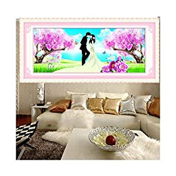 5D DIY Diamond Painting Wedding Cross Stitch Diamond Paste Living Room Accompanied by love