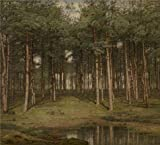 'Jean Pierre Francois Lamoriniere - Fir Wood At Putte' Oil Painting, 12x13 Inch / 30x34 Cm ,printed On Perfect Effect Canvas ,this Vivid Art Decorative Canvas Prints Is Perfectly Suitalbe For Bar Gallery Art And Home Gallery Art And Gifts