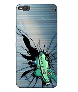 Snazzy Cartoon Printed Blue Hard Back Cover For HTC One X9 Smartphon