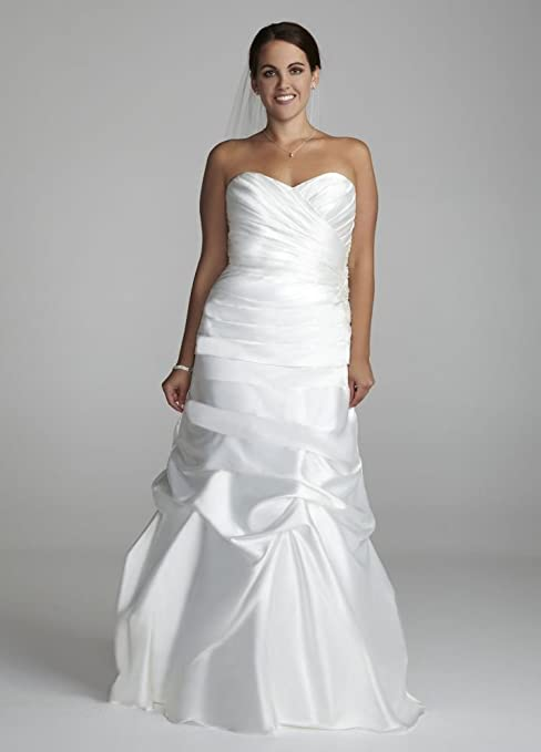 SAMPLE: Sweetheart Charmeuse Wedding Dress with Pick-Up Skirt Style...
