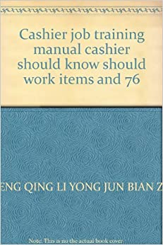 cashier training manual Teller training manual 5 report of cash difference of $100 or more completed report to be given to cashier or designee any difference of $500 or more is to be reported to the cashier immediately.