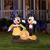 4.5' Tall Mickey and Minnie Pumpkin Halloween Airblown Inflatable
