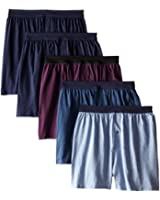Hanes Mens Tagless Knit ComfortSoft Boxers (Pack of 5)