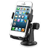 iOttie Simple One Touch Windshield Dashboard Automobile Mount Holder Cradle for iPhone 5 4S 4 3GS iPod Touch Samsung Galaxy S4 S3 S2 Nokia Lumia 920 HTC OneX EVO 4G Rhyme DROID RAZR MAXX Google Nexus LG Optimus G BlackBerry Z10 Torch Compact Size GPS