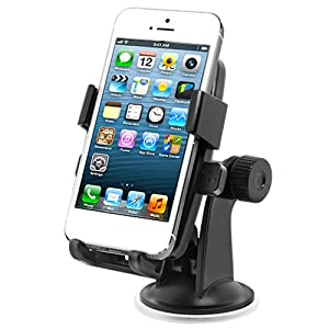 iOttie One-Touch Windshield Dashboard Car Mount Holder for iPhone 5 4S 4 3GS Samsung Galaxy S3 S2 Epic Touch 4G HTC OneX EVO 4G Rhyme DROID RAZR BIONIC INCREDIBLE 2 CHARGE Google Nexus BlackBerry Torch LG Revolution GPS Compact Size 360 degree Rotatable