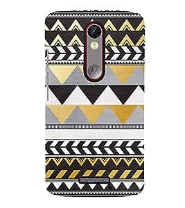 Zig Zag Pattern Design Cute Fashion 3D Hard Polycarbonate Designer Back Case Cover for Moto G Turbo Edition :: Moto G Turbo (Virat Kohli Edition)