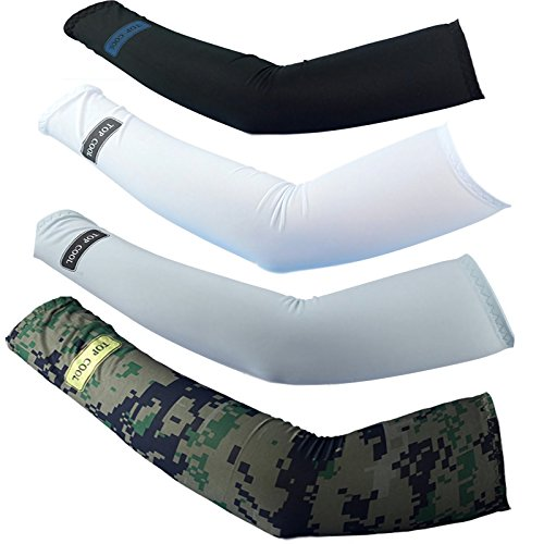 4pairs Cycling ,Movement ,Golf,baseball,Football,Running,adults ProtectsUV Cover Arm Sleeves Cooling (Football Throwing Gloves compare prices)