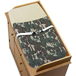 Sweet Jojo Designs Changing Pad Cover - Green Camo Army Military Camouflage