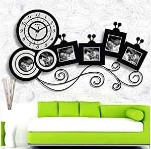 Horloge murale moderne design grand cuisine pendule photos for Pendule de cuisine amazon