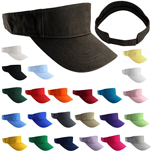 Enimay Sports Tennis Golf Sun Visor Hats Adjustable Velcro - Import It All 0d027c150d99
