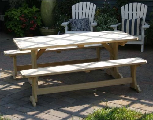 Wood Work Trestle Picnic Table Pdf Plans