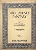 Park Avenue Fantasy - A Modern Composition for the Piano