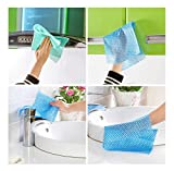 "8 Pcs Multipurpose and Reusable ""HOKIPO"" Brand Synthetic Cleaning Wipes for Kitchen Cutlery, Crockery, Furniture, Windows and More (Assorted Colors)"