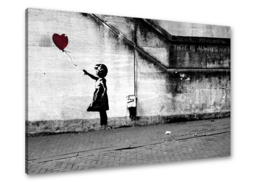 Quadro su tela Banksy astratto 80 x 60 cm modello nr XXL 4165