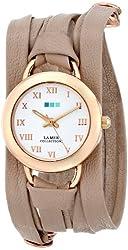 La Mer Collections Women's LMSATURN002 Nude Gold Saturn Wrap Watch
