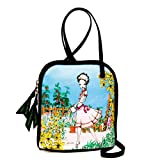 Watering the Garden Cross Body Bag, Art Bag, Eco Bag by Jasika Nicole ~ Eco Art Productions