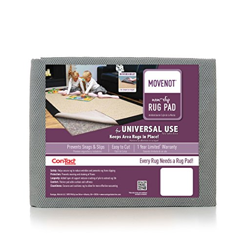 Con-Tact Brand Movenot Reversible Felt Rug Pad for Hard Surfaces and Carpet, 6 x 9