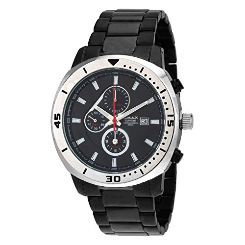 Omax Date Analog Chronograph Black Dial Mens Watch - CS126