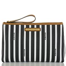 Large Stella Pouch<br>Black Signature Stripe