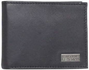 Kenneth Cole Reaction Men's Travel The World Montrose Wallet, Black, One Size