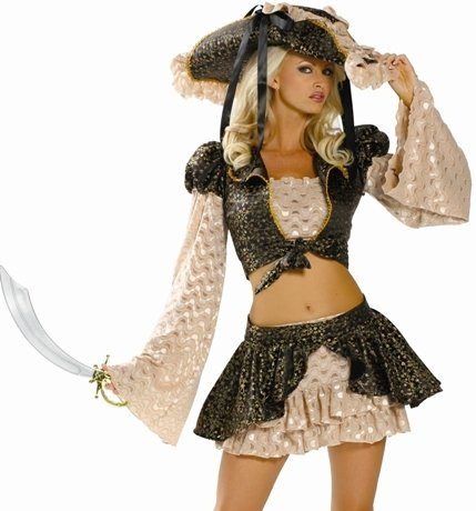 Sexy Halloween Costumes Lady Pirate Outfits Costume Womens U.S. M/L