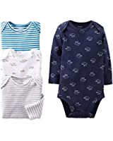 Carter's Baby Boys' 4 Pack Bodysuits (Baby) - Navy