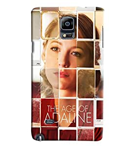 Blue Throat The Age Of Adaline Effect Printed Designer Back Cover For Samsung Galaxy Note 4