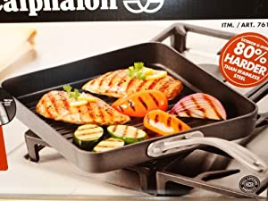 Calphalon Commercial Grade Nonstick 11-inch Square Grill Pan by Square grill