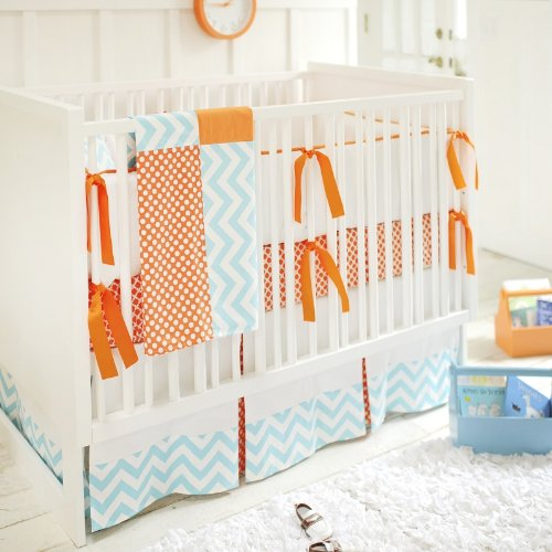 Orange Crush 3 Piece Crib Bedding Set