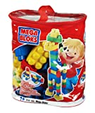 Megabloks 80pc Lrg Mega Bloks Bag & Wheel Base
