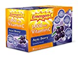 Emergen C 1,000mg Vitamin C Acai Berry (30 sachets, 24 nutrients)