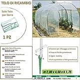 Betty Garden Telo NEW Ricambio per Serra (200 x 450 x h 175 cm) - Teli per Serre
