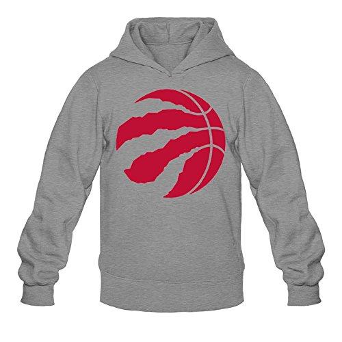 REIINO Men's Toronto Raptors Logo Hoodie Dark Grey L