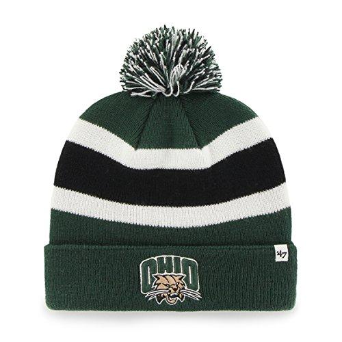 ncaa-ohio-bobcats-breakaway-cuff-knit-hat-one-size-dark-green