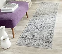 Safavieh Vintage Collection VTG430A Grey and Ivory Runner, 2 feet 2 inches by 6 feet (2\'2\