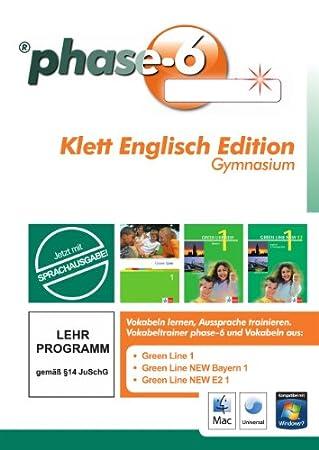 phase6 Klett Englisch Edition Gymnasium: Vokabeltrainer phase6 mit allen Vokabeln von Green Line 1 und Green Line New Bayern 1