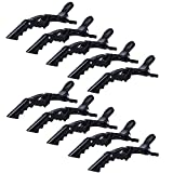 KLOUD City 10 Pcs Crocodile Hair Styling Clips/Professional hair clips/Duck hair clips/Hairdressing Partition Clips (black)