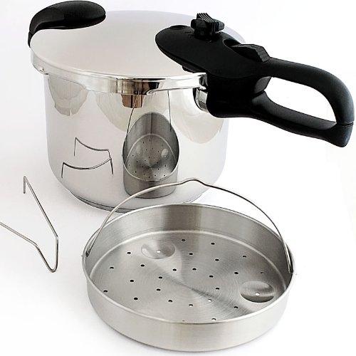 Pentola a pressione in acciaio inossidabile capacità: 6 litri
