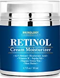 Retinol Cream Moisturizer for Face with Hyaluronic Acid, Shea Butter & Jojoba Oil - Enhanced Anti Wrinkle Anti Aging Skin Care Formula - Reduces Fine Lines, Age Spots - BEST Night & Day Cream 1.7 Oz