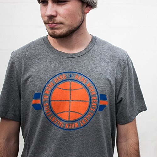 Unisex Men and Women KD Hard Work Tee Shirt OKC Oklahoma City Adult Grey Triblend by Shop Good (Nba Jersey Alternative compare prices)