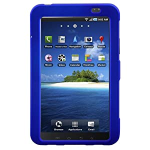 Hypercel Rubberized SnapOn Cover for Samsung Galaxy Tab - Blue