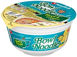 Nong Shim Bowl Noodle Soup, Beef and Ginger, 3.03-Ounce Bowls (Pack of 12)