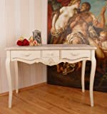 Königlicher Schreibtisch, Computertisch, Schreibmöbel, Sekretär, Arbeitstisch, Tisch aus Holz im angesagten Vintage-Stil in Weiß – Palazzo Exclusive