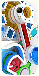 Good Looking multicolor printed protective REBEL mobile back cover for Samsung I9190 Galaxy S4 mini D.No.N-L-17540-S4M